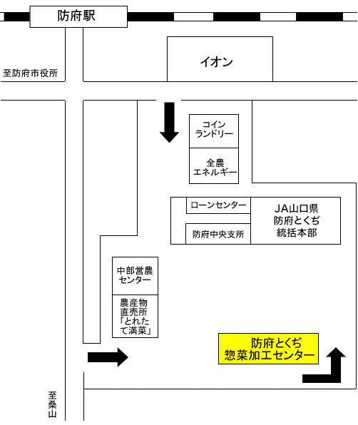 画像:周辺案内の地図