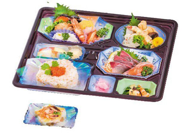 画像:会席御膳|ちらし寿司の種類がお選びいただけます。(A:五目 チラシ)(B:シャケ親子チラシ)|3,000円(税抜)
