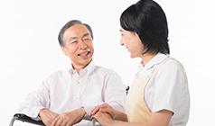 画像:介護者との対話